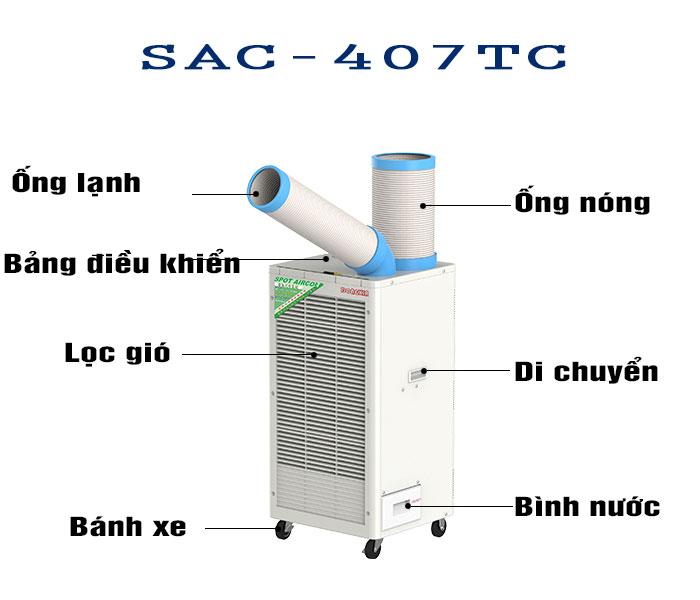 thông số máy lạnh sac-407tc