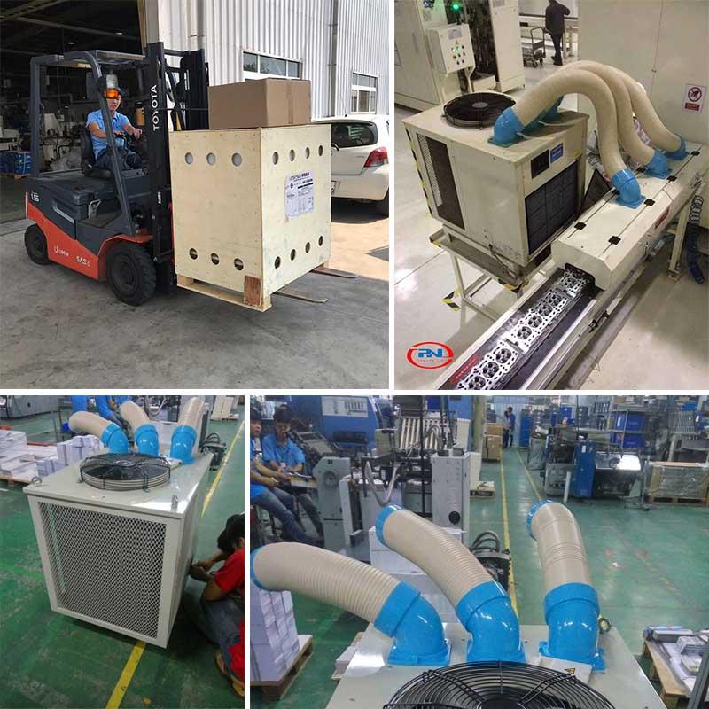 ứng dụng máy lạnh di động sac-7500