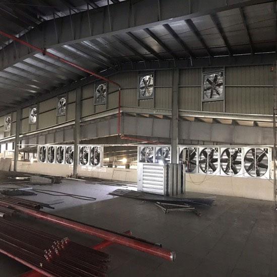 lắp quạt thông gió nhà xưởng