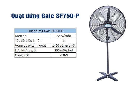 quạt đứng gale sf750-p