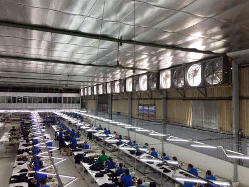 hệ thống quạt thông gió nhà xưởng